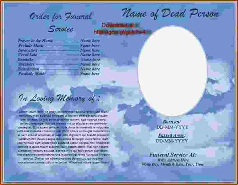 funeral program template word 4 funeral program template word teknoswitch