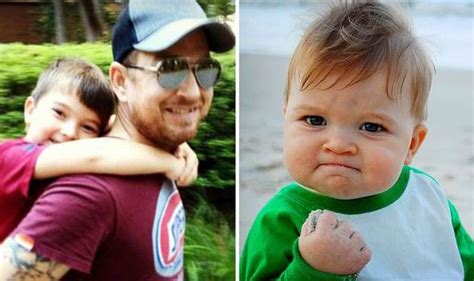 Triumphant Baby Meme - boy who inspired success kid internet meme raises over 163