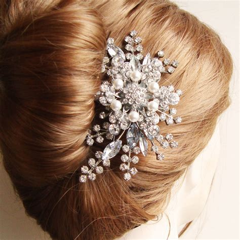 long nights french comb large metal hair comb with rhinestone hair comb bridal hair comb french twist comb