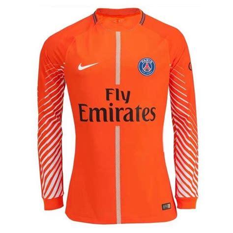 Jersey Psg Home Longsleeve 2017 18 psg 2017 18 orange goalkeeper sleeved shirt soccer jersey cheap football shirts store