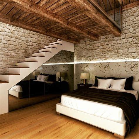 letti di montagna una da letto con soppalco in un appartamento in