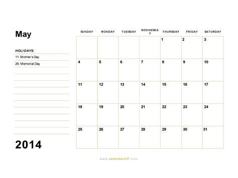 calendar may 2014 template may 2014 calendar blank printable calendar template in