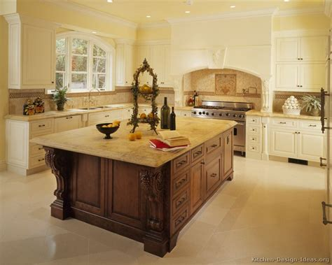 Kitchen With Island Design Ideas Pictures Of Kitchens Traditional White Kitchen Cabinets Page 7