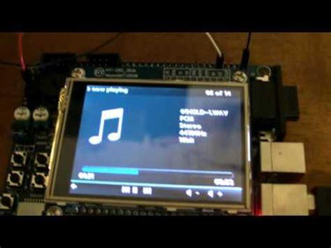 Wav Player Wp3a Tanpa Microsd stm32 cortex m3 microsd wav audio player with touchscreen