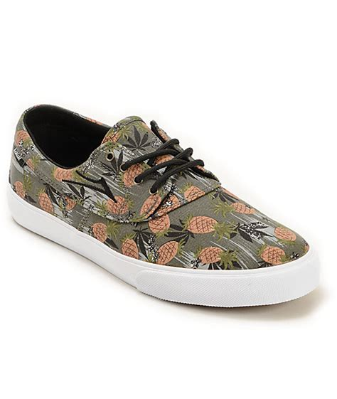 pineapple shoes lakai x ftc camby pineapple express skate shoes zumiez