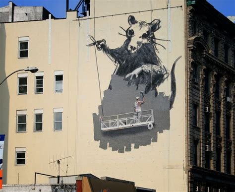 banksy rat mural  canal street chinatown  york city