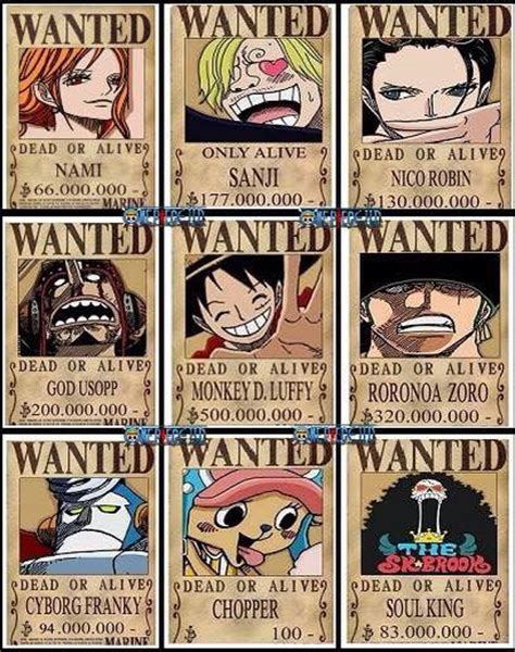 membuat poster buronan one piece straw hats new wanted posters one piece gold