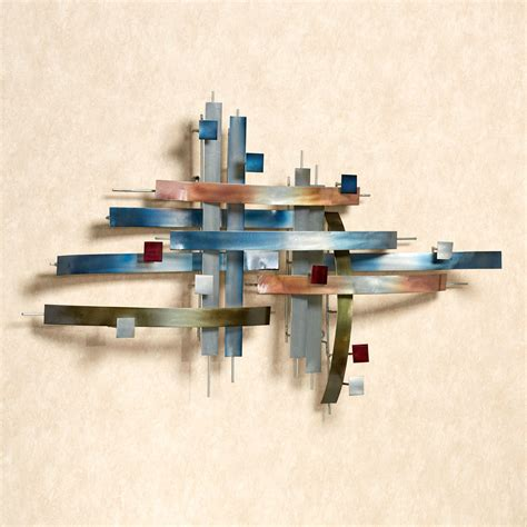 wall sculptures intersection abstract metal wall sculpture by jasonw