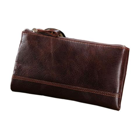 How To Soften Cowhide Leather soft vintage cowhide purse genuine leather clutch zipper wallet lots of