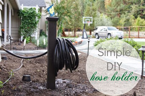 simply organized simple diy hose holder
