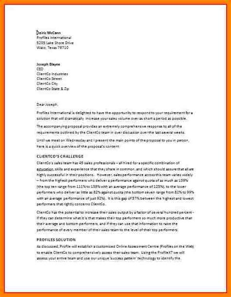 Introduction Letter Rfp 6 Exle Of Business Introduction Introduction Letter