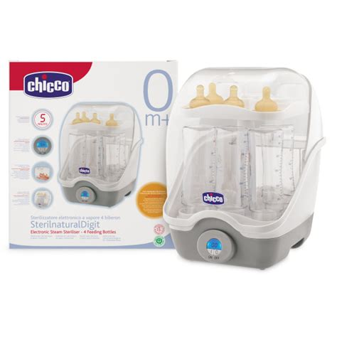 Baby Bottle Steam Sterilizer Automatic Digital Brand Claires Realpict chicco digitales dfsterilisierger 228 t quot sterilnaturaldigit