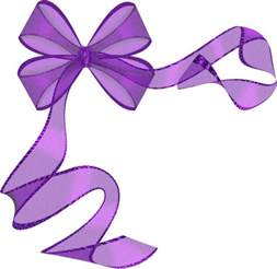 purple ribbon bow clip art paper birthday pinterest