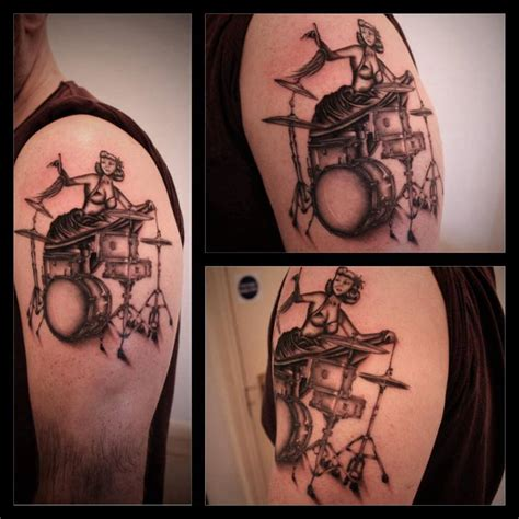 tattoo drum kit pin up and drum kit tattoo for jake pinup fresh from the