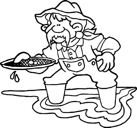 california gold rush free coloring pages