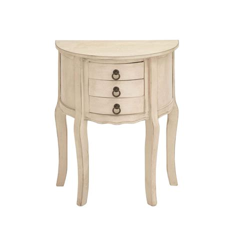 antique white accent table acme furniture flavius white 6 drawers accent chest 97416 the home depot