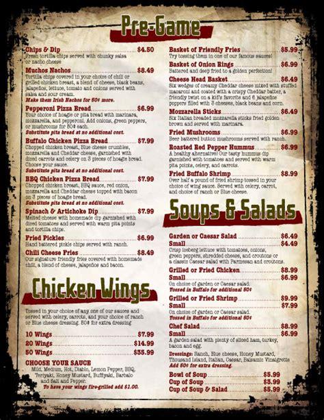 sports bar menu design www pixshark com images