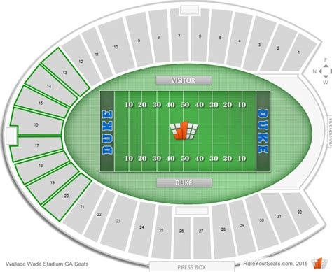 what are seats at a football where are general admission seats at duke football