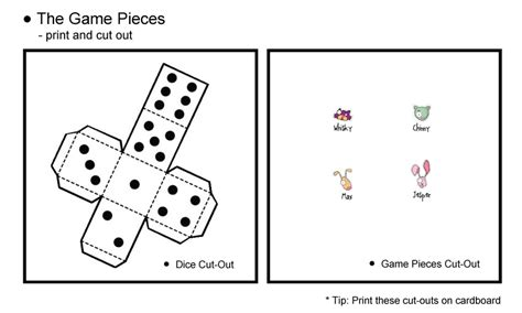 free printable board game pieces the pet safari board game the game pieces cut out