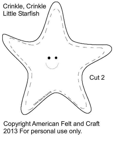 starfish template how to make a felt starfish crinkle american felt