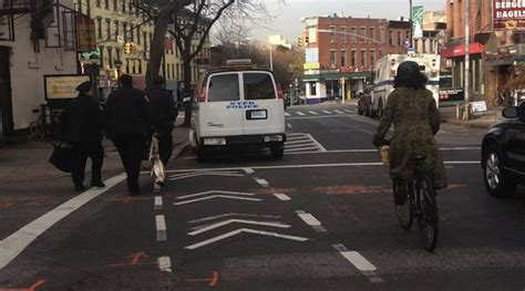 nypd barrier section melchorbeta 78th precinct sets up protected bike lane on
