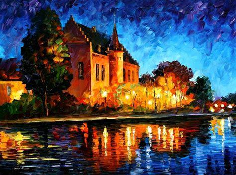 Kanvas Lukis 100cm X 100cm princess palette knife painting on canvas by leonid afremov size 24 quot x24 quot