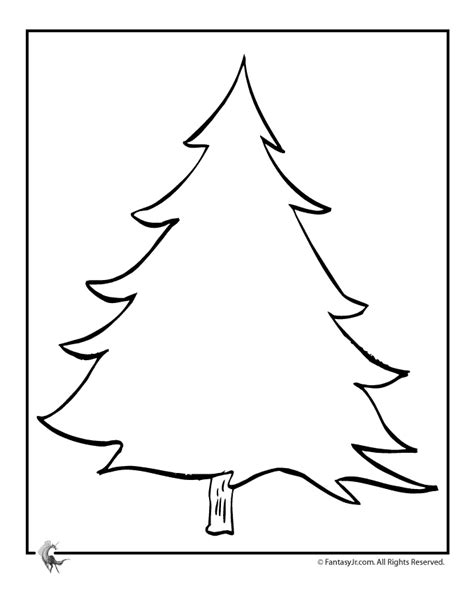 christmas trees coloring pages decorate   blank