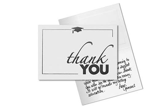 thank you card template graduation best sle graduation thank you card template
