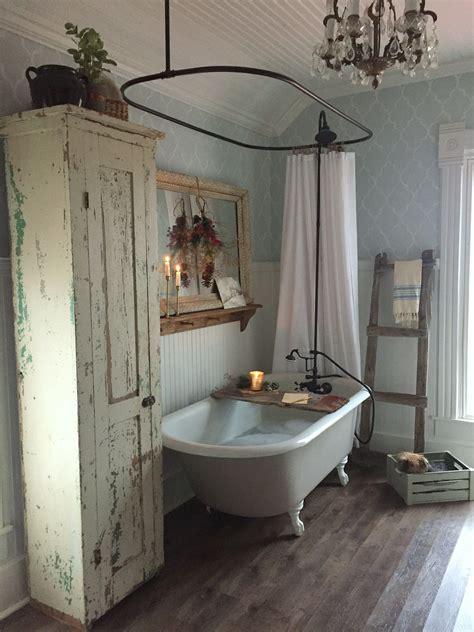 amazing farmhouse vintage bathroom  claw foot tub