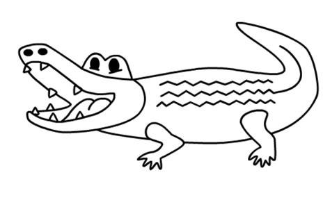 halaman belajar mewarnai gambar binatang buaya yang buas