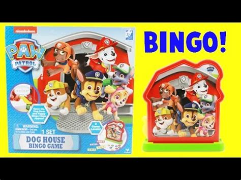 dog house game paw patrol dog house bingo game with surprise toy prize youtube