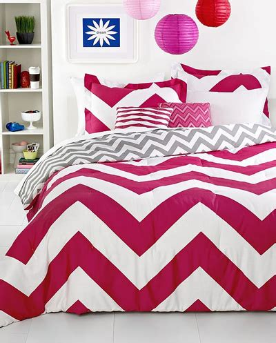 pink chevron bedding chevron pink 5 piece comforter set decor by color