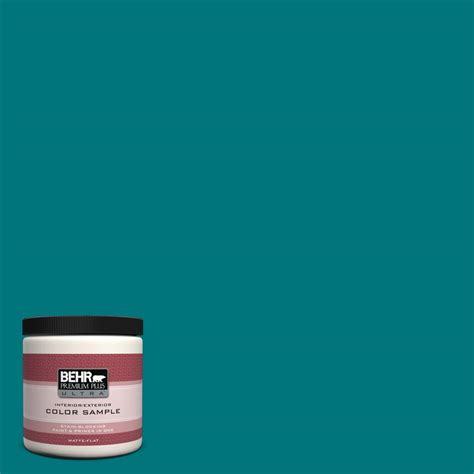 behr premium plus ultra 8 oz t15 3 essential teal interior exterior paint sle ul20316 the