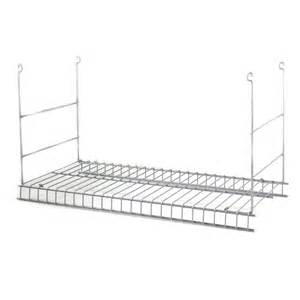 hanging wire shelves shop closetmaid white wire add on hanging kit at lowes