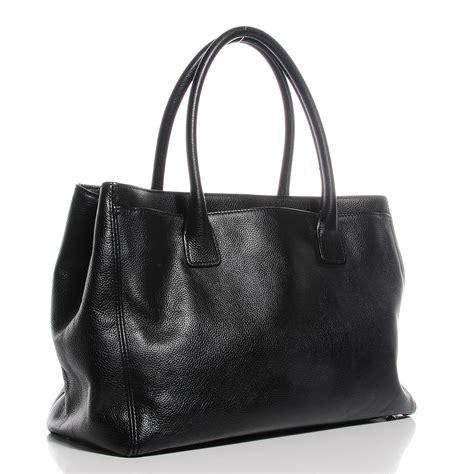 Coxs Chanel Cerfexecutive Tote by Chanel Calfskin Cerf Executive Shopper Tote Black 100506