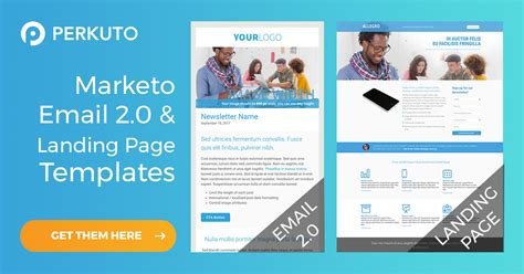 Responsive Marketo Email And Landing Page Templates Perkuto Marketo Landing Page Templates