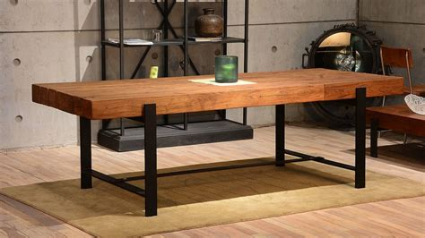furniture rustic wooden dining room tables rectangular san francisco modern rustic dining room industrial with 94