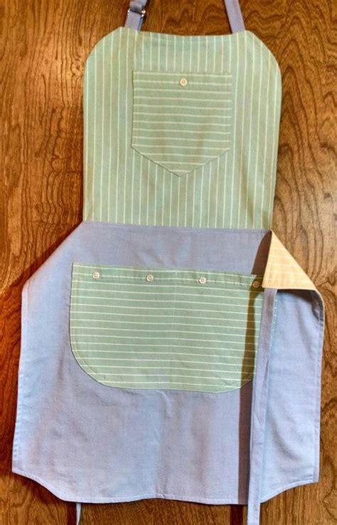 pattern for shirt apron reversible repurposed shirt apron side 2 mary mulari