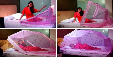 mosquito netting for beds structure is added to a