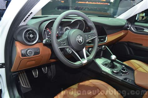 Indian Home Design Videos by Alfa Romeo Giulia Interior At The 2016 Geneva Motor Show