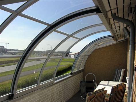 chiusura terrazza foto chiusura scorrevole balcone terrazza curvata da