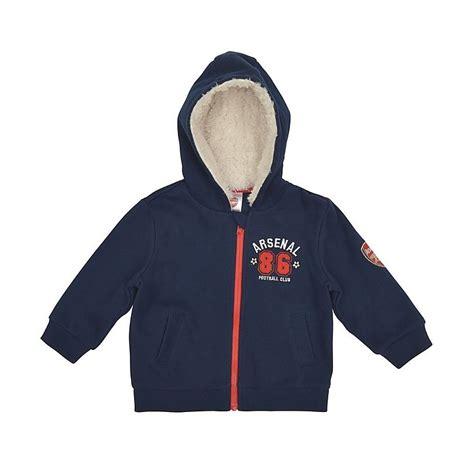 Hoodie Zipper Arsenal arsenal babywear zip thru hoody baby arsenal direct