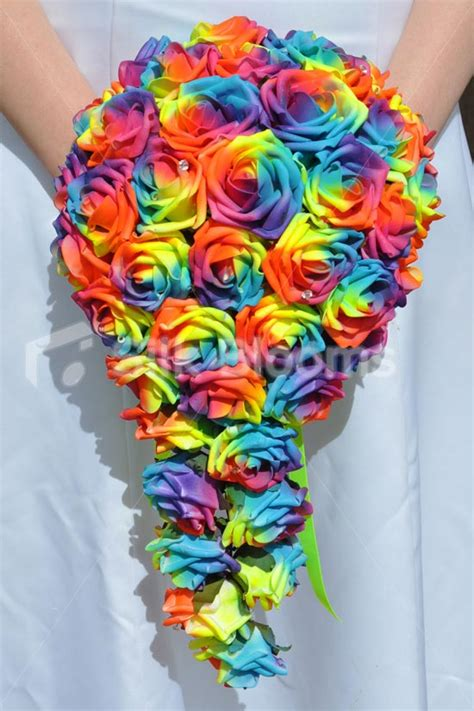 shop vibrant multi coloured rainbow rose wedding