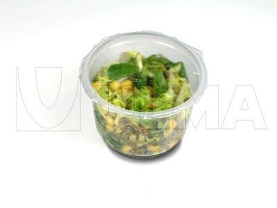 Pet Tray Salad 500ml salad pots map tray sealed ulma packaging