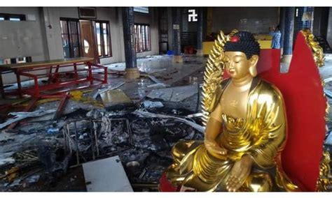 Dudukan Rupang Persegi 1 patung buddha di vihara tanjung balai pecinan digusur alasannya karena dianggap menghina agama