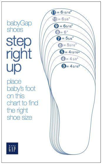printable shoe size chart toddler sizing shoe size chart toddler shoes and charts