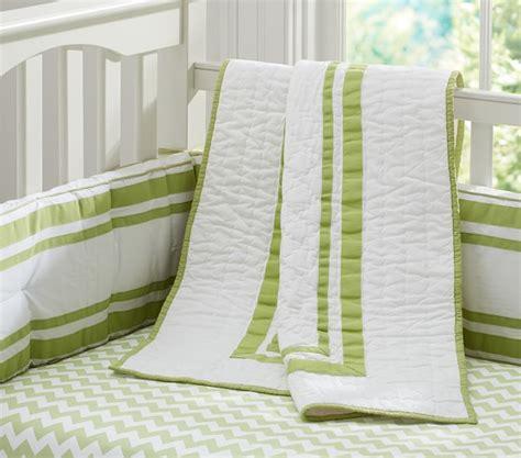 Green Nursery Bedding Sets by Chevron Nursery Bedding Set Green Pottery Barn Kids