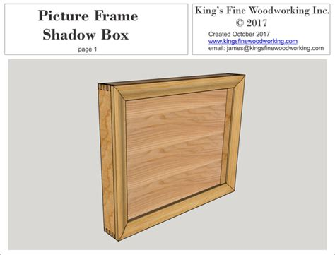 picture frame shadow box plans kings fine woodworking