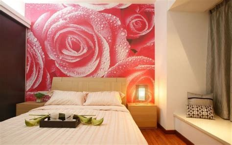 rose bedroom rose wallpaper for bedroom interior design