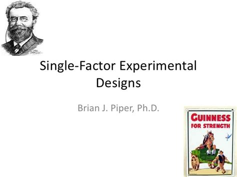 design of experiment single factor research methods experimental design i single factor